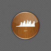City wood application icons vector illustration — Stock Vector