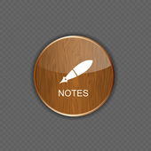 Notes application icons vector illustration — Stock Vector