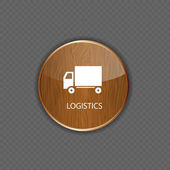 Logistics wood application icons — Stock Vector