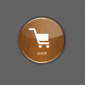 Shop wood application icons — Stock Vector