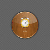 Watch wood application icons — Stock Vector