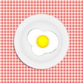 Fried eggs vector illustration — Stock Vector