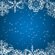 Christmas snowflakes background vector illustration — Stockvektor