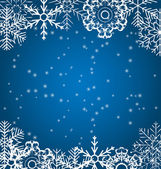 Christmas snowflakes background vector illustration — Stock Vector