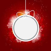 Kerstmis sneeuwvlokken achtergrond vectorillustratie — Stockvector