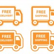 Free shipping, delivery icon set. vector illustration — Stock Vector
