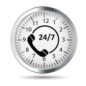 Customer service 24/7 application icon — Stock Vector