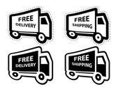 Free shipping, delivery icon set. vector illustration — Cтоковый вектор