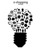 E-shopping concept icons vector illustration — Stock Vector