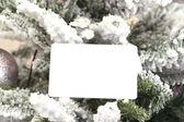 Abstrait de noël avec le modèle de carte — Photo