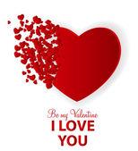 与心的快乐情人节卡片。矢量插画 — 图库矢量图片