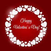 Happy Valentines Day Card with Heart. Vector Illustration — Vettoriale Stock