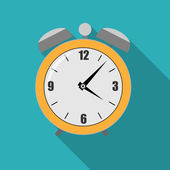 Flat Alarm Clock Icon Vector Illustration — Stock Vector