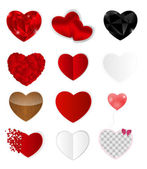 Set of Hearts. Vector Illustration — Stock Vector