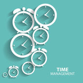 Modern Flat Time Management Vector Icon for Web and Mobile Appli — Vector de stock