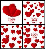 Szczęśliwy walentynki karty z serca. ilustracja wektorowa — Wektor stockowy