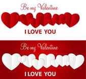 Feliz día de san valentín tarjeta con corazón. ilustración vectorial — Vector de stock