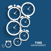 Modern Flat Time Management Vector Icon for Web and Mobile Appli — ストックベクタ