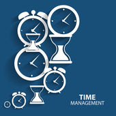 Modern Flat Time Management Vector Icon for Web and Mobile — Stock Vector