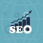 SEO - Search Engine Optimization Flat Icon Vector Illustration — Stock Vector