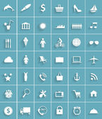 Modern Flat Icon Set for Web and Mobile Application — Vettoriale Stock