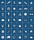 Mega Set of Flat Icons Vector Illustration. — Stock Vector