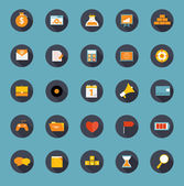 Set of Flat Icons Vector Illustration — Stock Vector