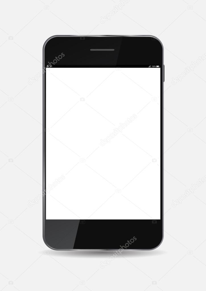 黑手机矢量图— vector