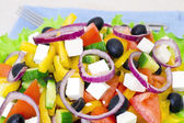Fresh Tasty Greek Salad — 图库照片