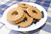 Biscuits with Blueberries — Stock Photo