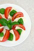 Salade caprese savoureux frais — Photo