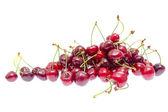 Sweet cherry pozadí izolovaných na bílém pozadí — Stock fotografie