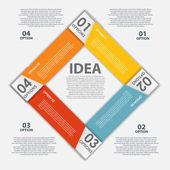 Infographie conception éléments vector illustration — Vecteur