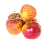 Ripe Red Apple Isolated on White Background. — Stock Photo