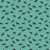 Horse Runs, Hops, Gallops Isolated. Seamless Pattern. — Stock Vector