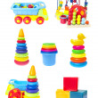 Children's Toys Set Isolated on White Background — Stock Photo