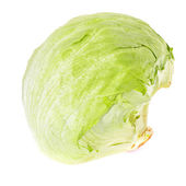 Iceberg Lettuce Isolated on White Background — Stock Photo