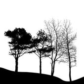 Tree Silhouettes — Stock Vector