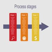 Infographik vorlagen für business-vektor-illustration. — Stockvektor