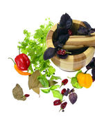 Kruid van peterselie, peper, laurier en peper — Stockfoto