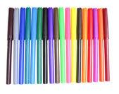 Multi colorati pennarelli isolati su sfondo bianco — Foto Stock