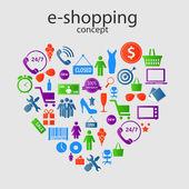 E-shopping concept — Stock Vector