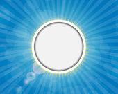 Rama na słoneczny tło błyszczący ilustracja wektorowa — Wektor stockowy