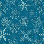 Seamless Snowflakes Background. Vector Illustration — Stock Vector