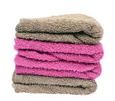Towels Isolated on White Background — Stock Photo