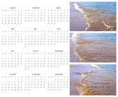 Calendar 2015 on the Background of Sea, Sun, Beach — Foto Stock