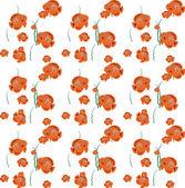 Orange  Fishes Pattern — Cтоковый вектор