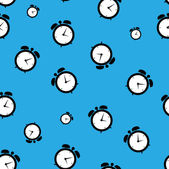 Alarm clock pattern — Stock Vector