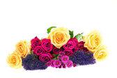Bouquet de fleurs colorées isolé sur fond blanc — Photo