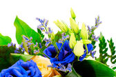 Colorful Flowers Bouquet Isolated on White Background — Stock Photo